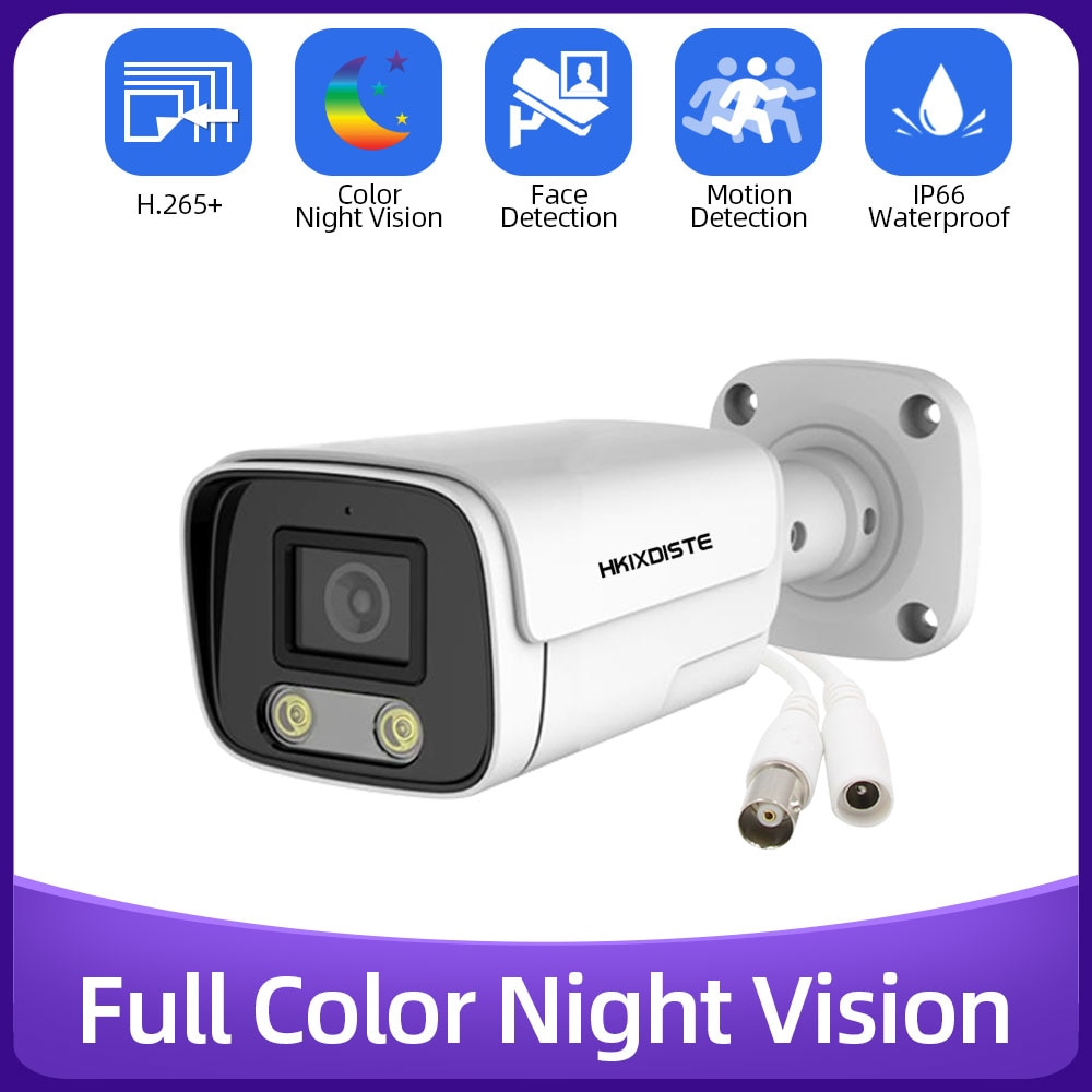 HD كاميرا الأمن في الهواء الطلق مقاوم للماء اللون للرؤية الليلية 5MP AHD TVI CVI التناظرية CCTV كاميرا مصغرة للمراقبة بالفيديو ل DVR