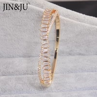 jinju gold color bracelet for women charms cuff bangles femme dubai aa cubic zirconia jewelry pulseras mujer mothers day gift