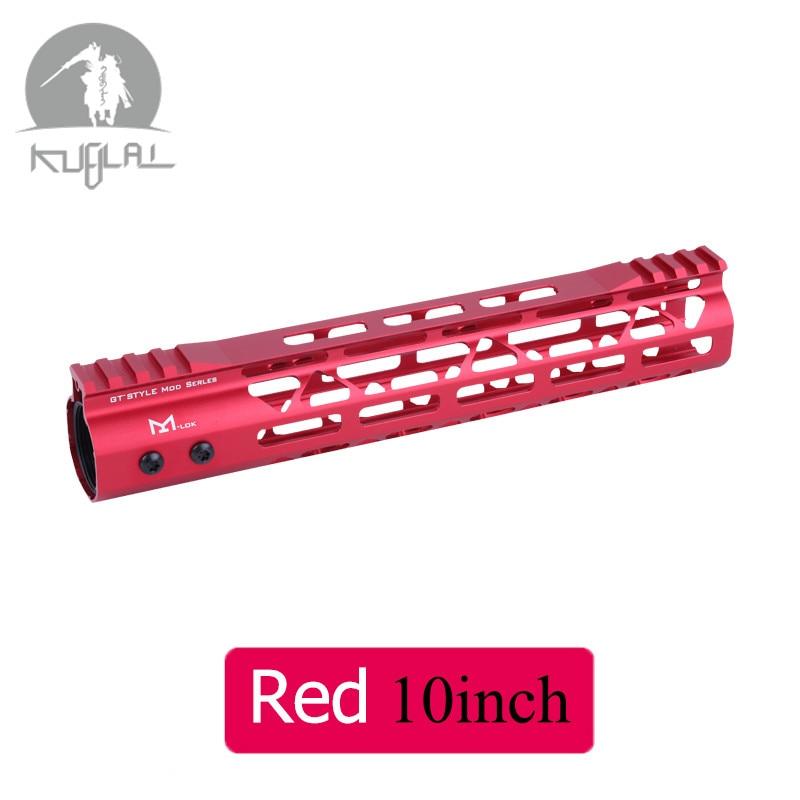 Táctico negro rojo guardamanos Gel Blaster M-LOK10 12 15 pulgadas Slim flotador gratis montaje riel Picatinny soporte para AEG