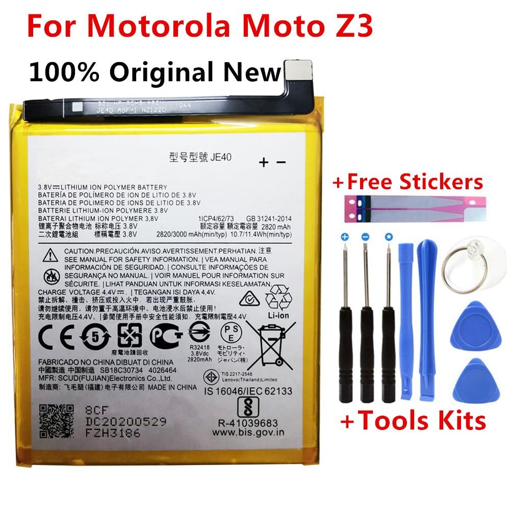 Batería de repuesto para Motorola Moto Z3 JE40, 100% mAh/11,4 Wh, 3000...
