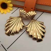 modern jewelry metal geometric earrings 2021 new design golden plating exaggerated drop earrings for girl fine accessories