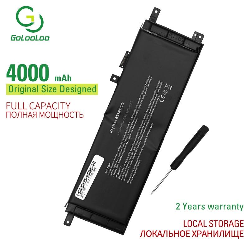 Gololo 7,4 v 4000mAh B21N1329 Аккумулятор для ноутбука ASUS D553M F453 F453MA F553M P553 P553MA X453 X453MA X553 X553M X553B X553MA