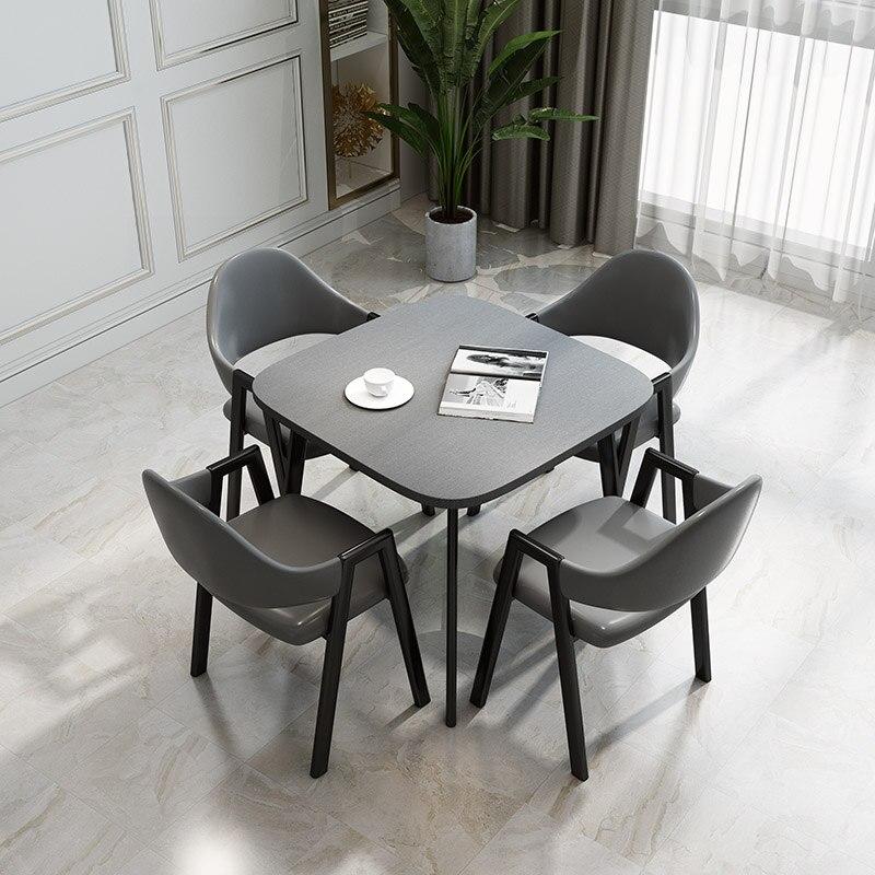 Скандинавский обеденный стол, столовый стол, 4 стула, обеденный журнальный столик, мебель для гостиной, столовый стол, набор из 4 стульев