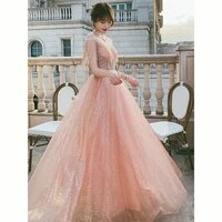 women evening dress skirt female 2020 new long style simple and generous banquet was thin and elegant dress