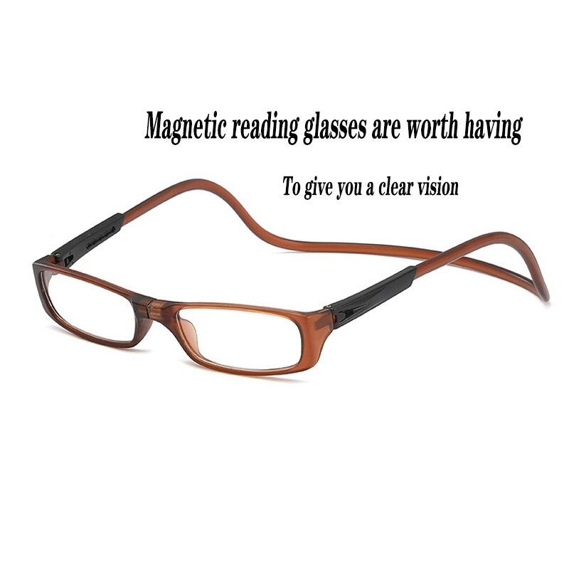 Очки для чтения мужские и женские очки модные очки для чтения лупа подарок для родителей магнитный дизайн с присоской + 150