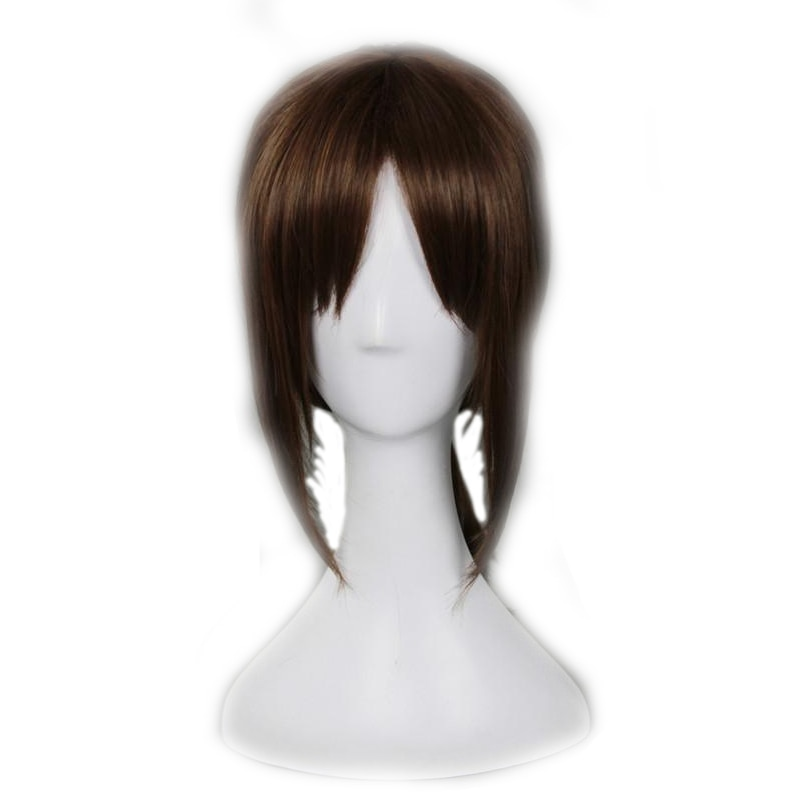 Attack on Titan Ymir Cosplay Wig Aurgelmir Brown Short ponytail Heat Resistant Synthetic Hair Halloween party Play Wigs pelucas