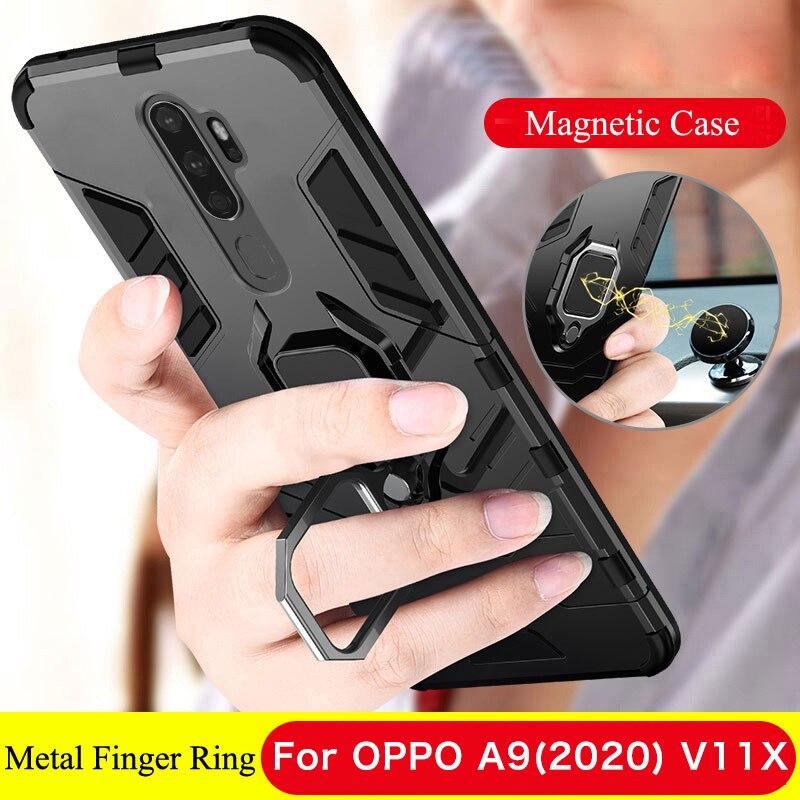 Чехол для Oppo A9 2020, магнитный автомобильный держатель для Realme 5 Pro 3 C2 Q A1K A11X, чехол для Oppo Reno 4 Pro 10X Zoom Z K1 K3