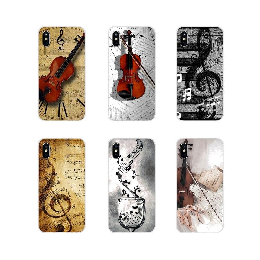 Accessori Del Telefono Custodie Coperture Violino e Nota Musicale Per La Huawei Nova 2 3 2i 3i Mate 7 8 9 10 20 30 Lite Pro