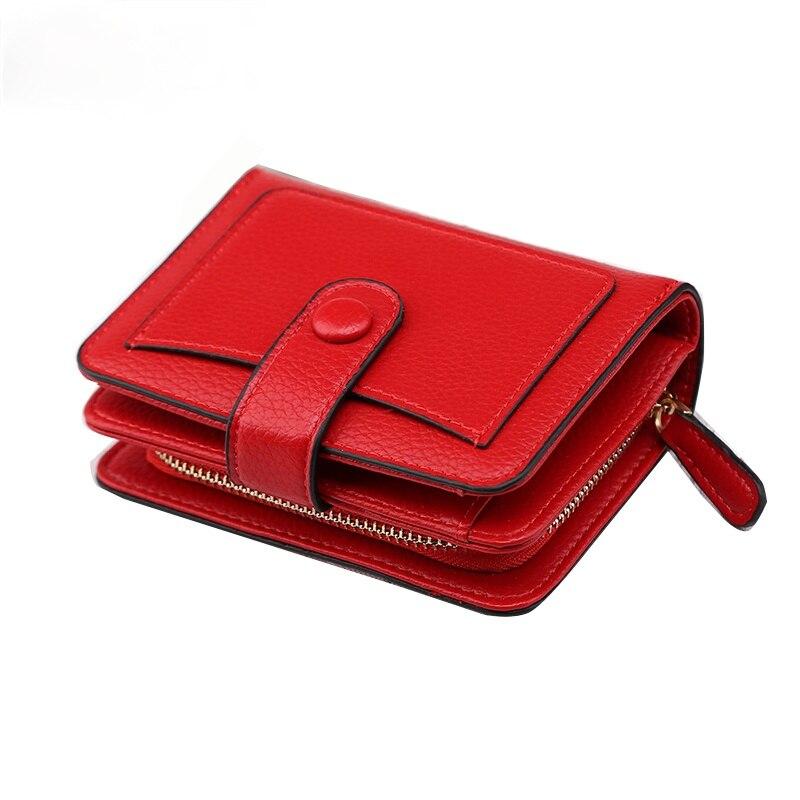 Fashion PU Leather Women Zipper Small Purse  Card Holder High Quality Clutch Wallet