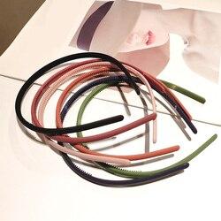 Moda feminina sólida bandana bezel para o cabelo de plástico faixas de cabelo hoop meninas simples headbands hairband acessórios de cabelo