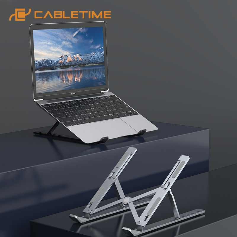 Portátil suporte portátil dobrável liga de alumínio para notebook macbook dell ipad tablet suporte c387