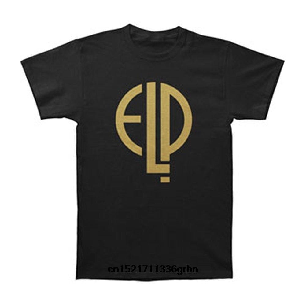 Camiseta de hombre Emerson Lake Donald Logo de alto voltaje negro divertida camiseta novedad camiseta Mujer