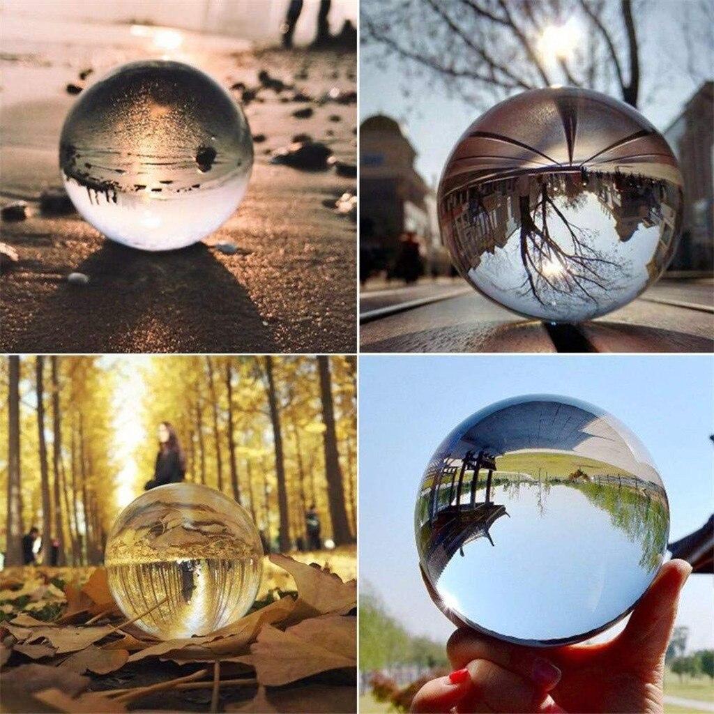 50mm de vidrio claro bola de cristal para sanación esfera fotografía apoyos de fotografía de Lensball nuevo cristal Artificial sueño decorativos regalos bolas