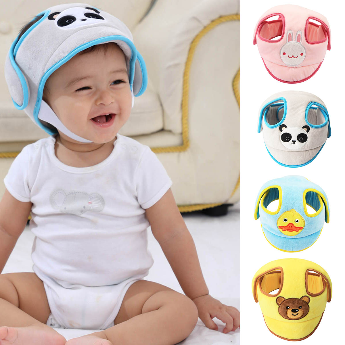 Anti-collision Safety Infant Toddler Protection Soft Hat Baby Protective Helmet Anti-falling Head Protective Cap for Walking