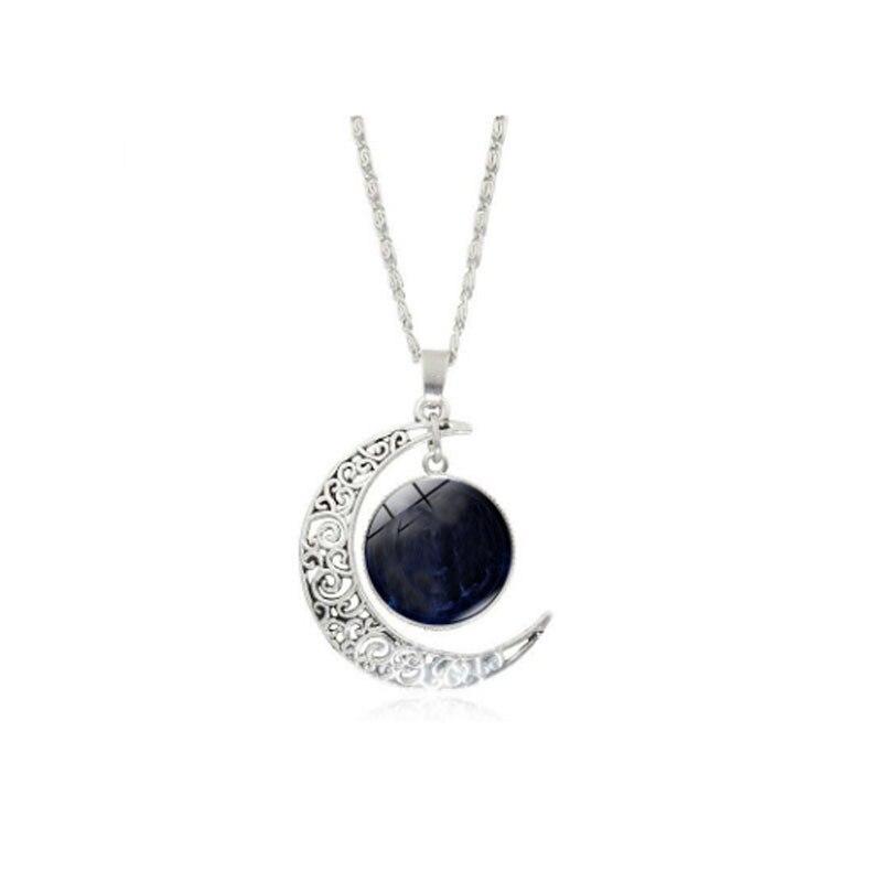 Colgantes de cúpula de cristal de la luna de la joyería de moda hecha a mano de Dropshipper de la joyería de Dropshipper Para el collar