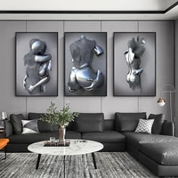 metal figure statue art canvas paintings romantic abstract posters and prints wall pictures modern interior decorative for home