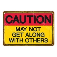 warning zombie ahead plate danger keep out metal tin sign vintage poster wall art painting plaque bar pub club home decor yi 016