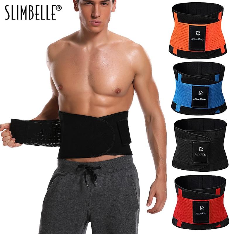 Recortador de cintura de talla grande para hombre, cinturón Adelgazante y moldeador de figura, faja para Fitness