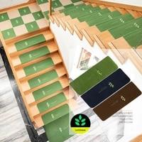 non slip indoor stair treads rug soft stair carpet solid color simple self adhesive stair mats luminous waterproof carpet