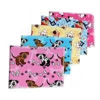 printed cute dog twill polyester cotton fabric sewing quilting fabrics needlework material diy cloth 50145cm