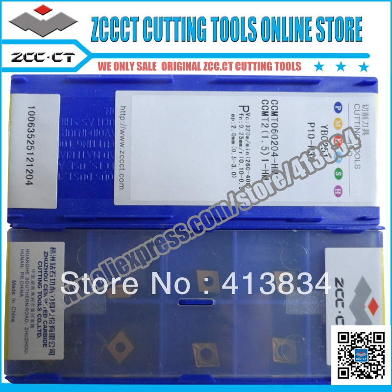 10 Uds ZCC.CT herramienta de torneado CCMT060204-HM YBC251 CCMT06 CCMT 060204 ZCC.CT herramientas de corte cnc inserte CCMT060204-HM de corte de metal