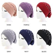 Pearl Abaya India Hijab Scarf Muslim Arabic Hat Women Jewish Islam Prayer Caps Islamic Saudi Arabia Cappelli Donna Hots
