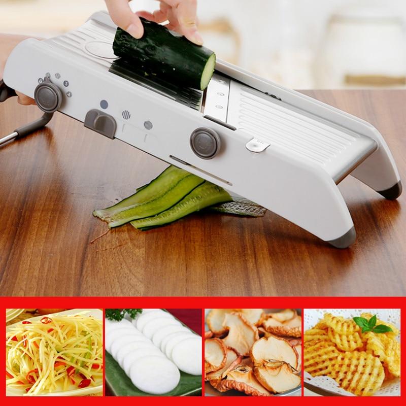 البصل مبشرة التقطيع طاحونة قابل للتعديل الفاكهة الخضار البطاطس القاطع القطاعة أدوات المطبخ اكسسوارات المروحية pf100601