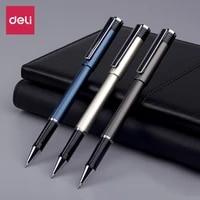 deli signing pen business office gel pen 0 50 71 0 bold high capacity black pen carbon pen meeting white collar signature pens