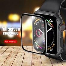 Reloj inteligente de vidrio templado para Apple reloj 4 5 44mm 40mm claro TPU cobertura película protectora de pantalla color mate para Apple Watch 2 3 42mm 38mm
