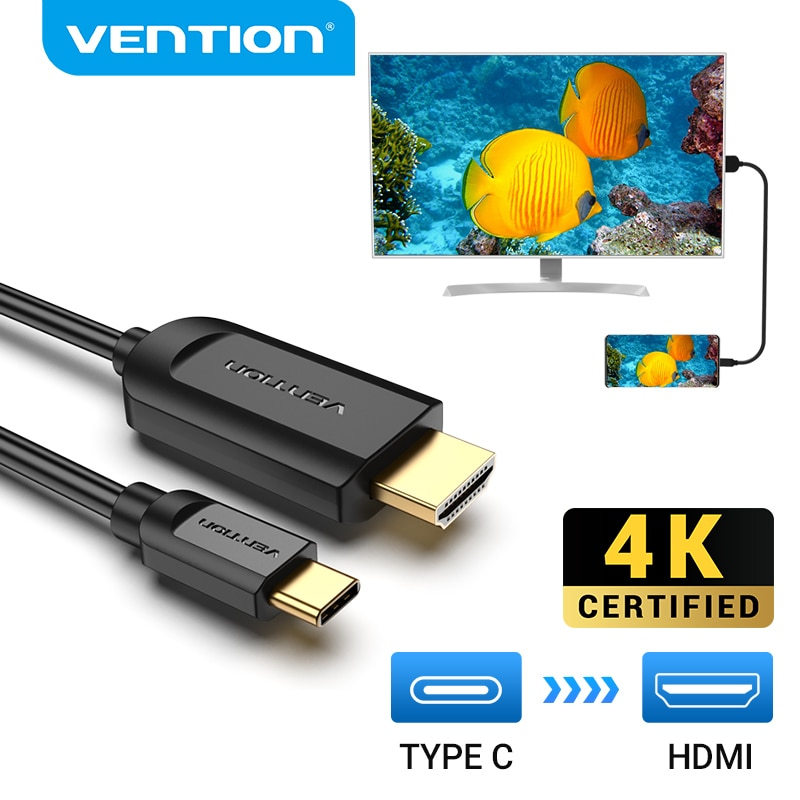 Vention USB C a HDMI Cable 4 tipo K c HDMI Thunderbolt...