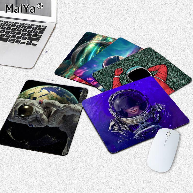 Высококачественный коврик для мыши MaiYa для ноутбука с космосом астронавтом, гладкий коврик для мыши, настольные компьютеры, коврик для игро...