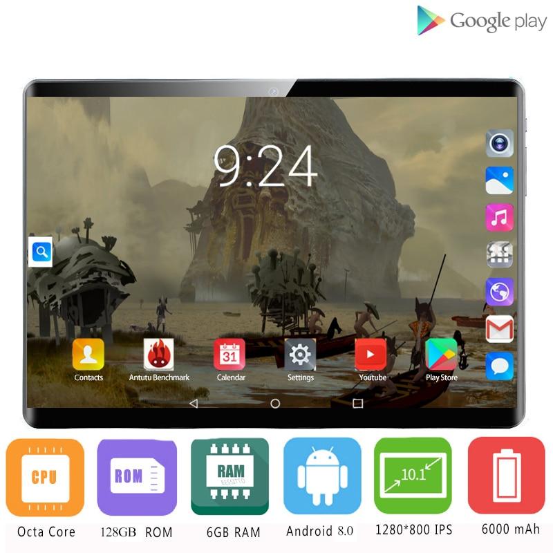 2020 heiße Verkäufe 6GB + 128GB ROM 2.5D Glas 4G LTE 10 zoll Android 8.1 Octe Kern Dual SIM Karten 1920*1200 IPS Bildschirm Wifi GPS 10,1