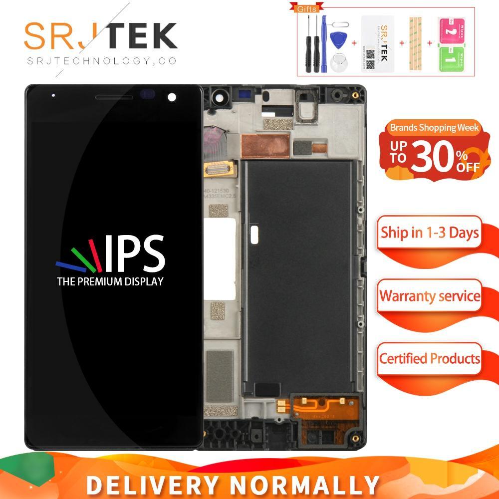 Pantalla para Nokia Lumia 730 735 LCD Display Matrix Digitalizador de pantalla táctil montaje completo/marco 4,7 para pantalla Nokia Lumia 730