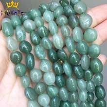 8-10mm Irregular Natural Green Aventurine Stone Beads Round Loose Beads For Jewelry Making DIY Earrings Bracelet Charm 15''