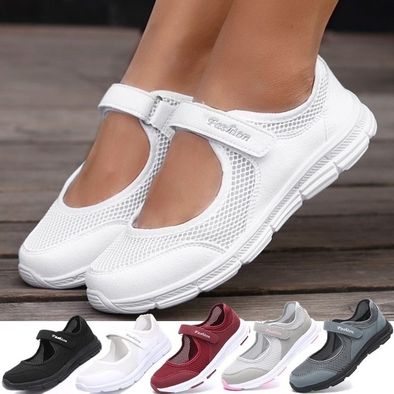 Womens Fashion Casual Running Shoes Women Sneakers Weave Mesh Fabric Comfortable Flats Shoes Zapatos