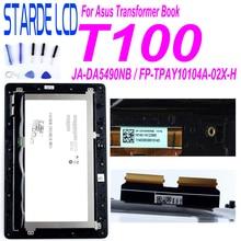 Para Asus libro de transformador T100 T100TA-C1-GR T100T 5490NB pantalla LCD de montaje de digitalizador con pantalla táctil con marco FP-TPAY10104A-02