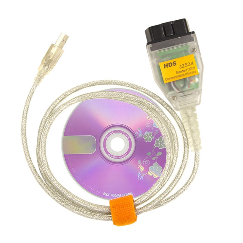 Hds J2534 Cable Usb para Honda Obd2 Mini Vci interfaz J2534 Cable de diagnóstico para Toyota Lexus Scion Tis Techstream