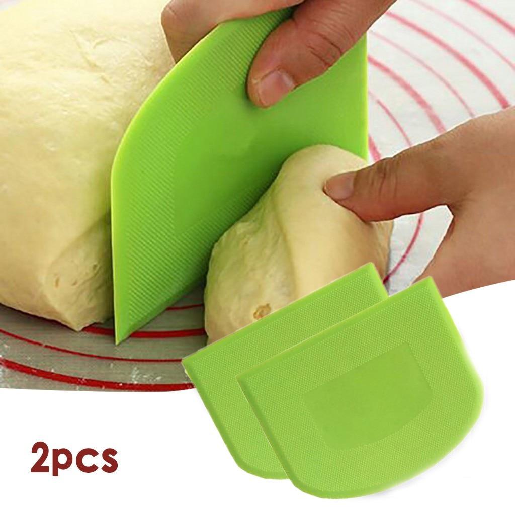 Фото - 2pc Plastic Cake Cream Spatula Dough Butter Batter Scraper Baking Tools Kitchen Cutting Tools Gadgets Bowl Scraper 2021#ab too faced butter cream