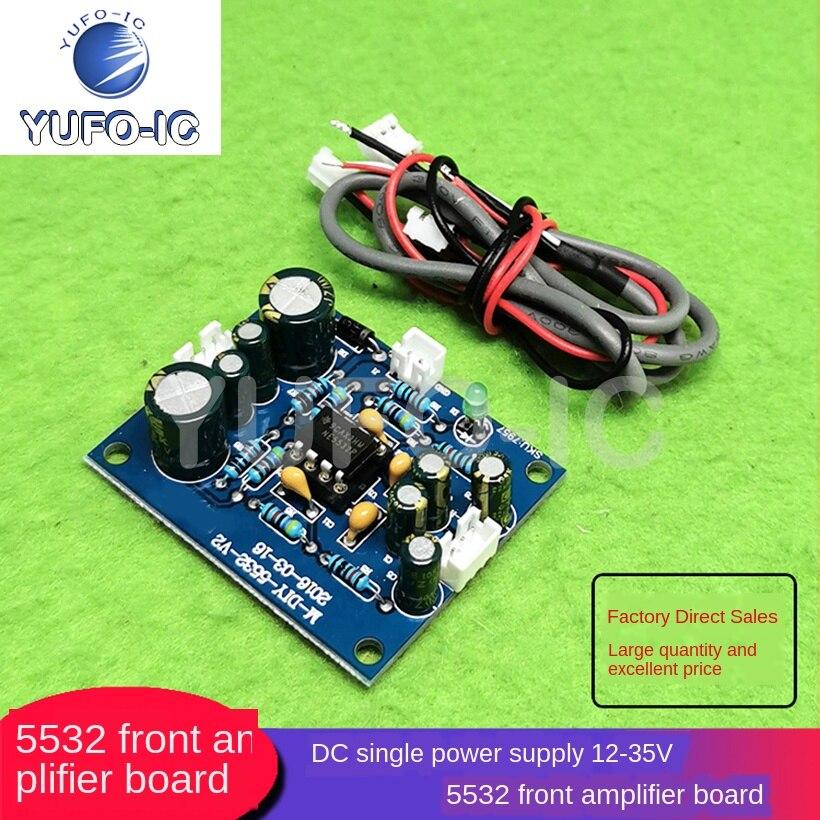 1 Uds 5532, placa amplificadora frontal, fuente de lente única, Panel frontal, fuente de lente única CC, 12-35V, amplificador operacional reemplazable