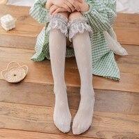 girls new lace lovely girls socks soft sweet women socks white stockingsknee high knee high socks