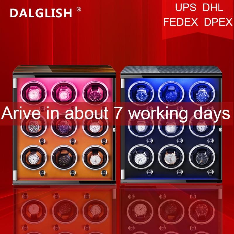 Automatic Watch Winder Box Uhrenbeweger Mechanical Display 9 Slots Male watch Automatic