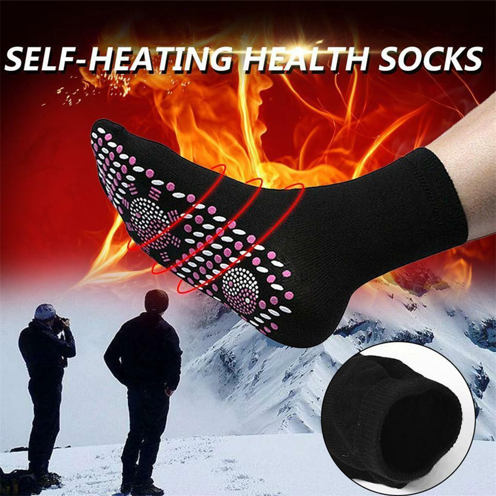 Men's socks women Self-heating Winter Warm Magnetic Therapy Comfortable Heated Massage Pression hiking hockey For tourism Sport