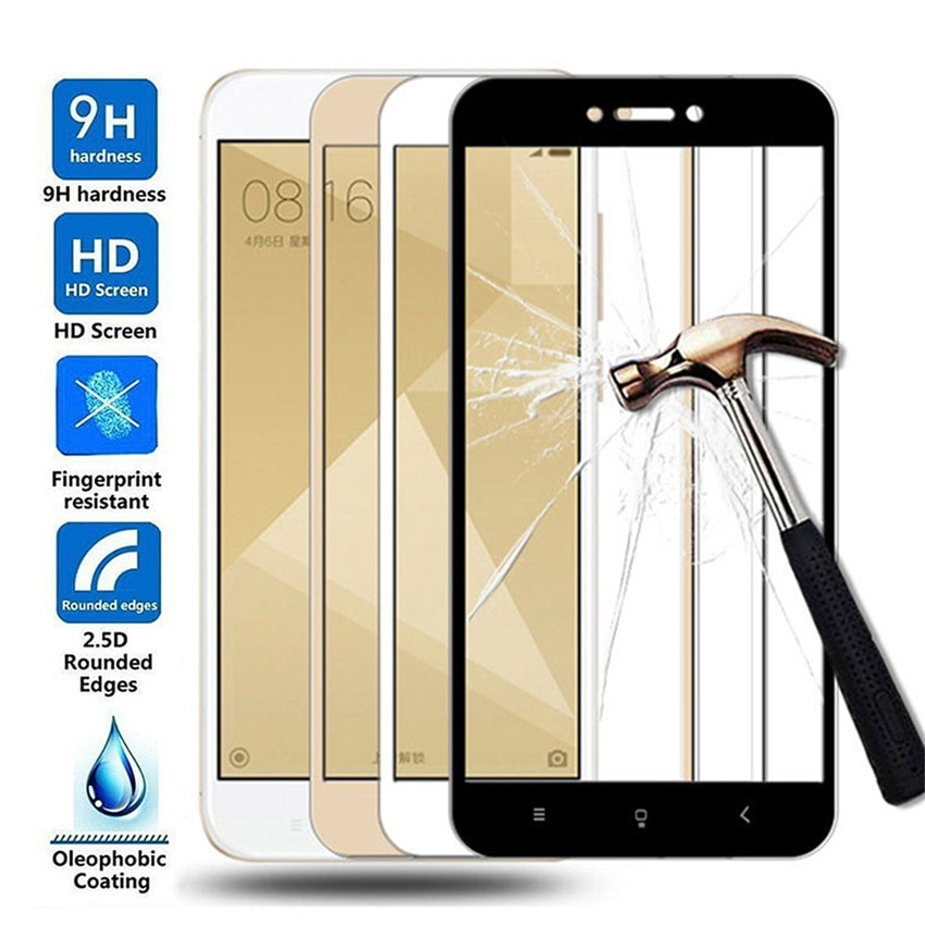 15D Protective Glass For Xiaomi Redmi 4X 5A 5 Plus 6 6A 7A Redmi Note 4 4X 5 5A Pro Tempered Glass S