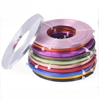 10metersroll 5x1mm 12colors flat aluminum soft metal wire for jewelry making diy crafts cord
