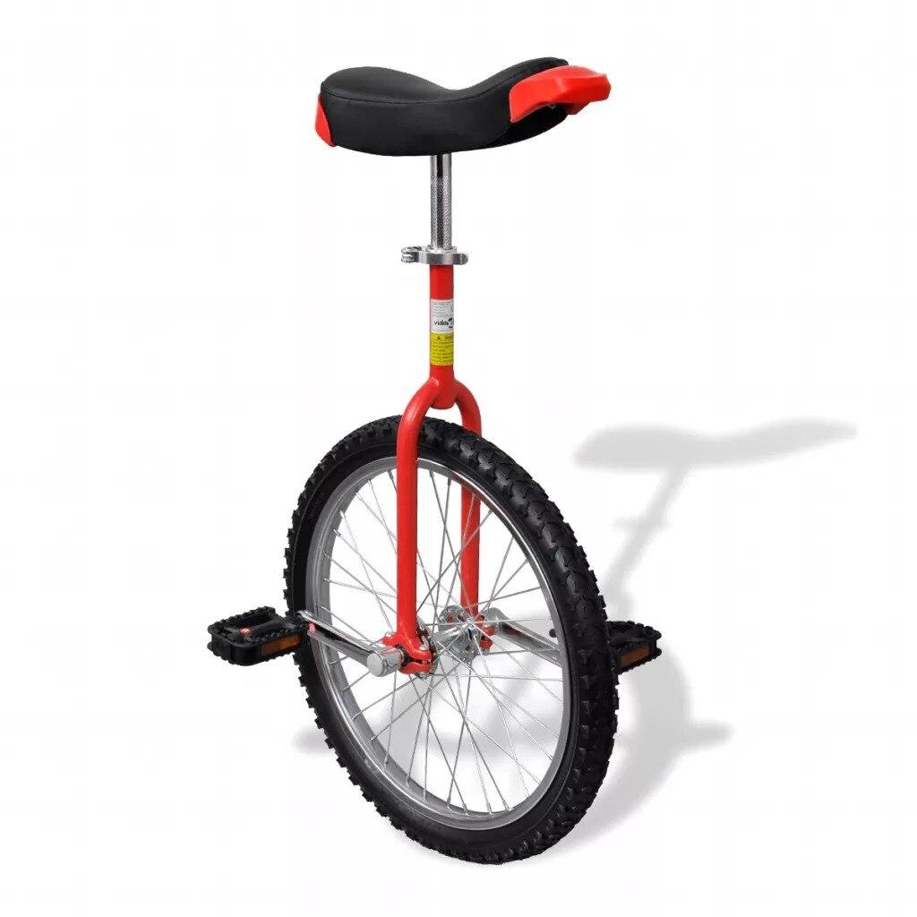 VidaXL Ergonomisch Distinctive Einrad Fahrrad Red Einstellbare Einrad 20 Zoll Rad Einrad Mit Sattel
