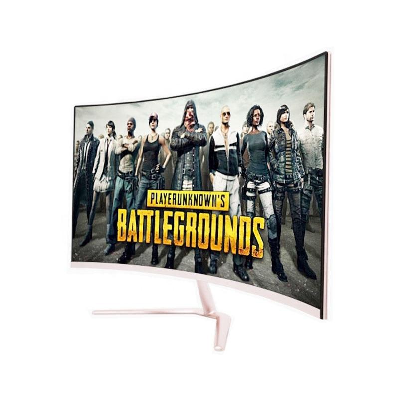شاشة منحنية مقاس 32 بوصة بدقة 144 هرتز عالية الدقة 1080 بكسل 4k ، شاشة ألعاب LCD بإطار ضيق MVA