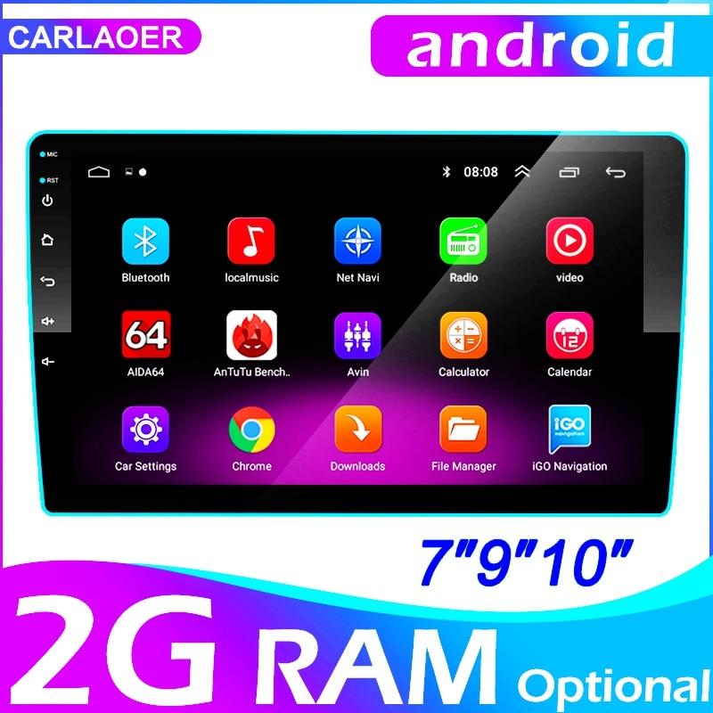 2 din Auto Android radio Multimedia Player 9 inche 2G RAM für Toyota Volkswagen Hyundai Kia Renault Suzuk Nissan honda Audi Lada