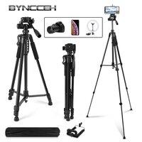 Трипод для камеры смартфона 160 см/63 дюйма, селфи-палка, легкий штатив для путешествий, 3-х секционный регулируемый штатив