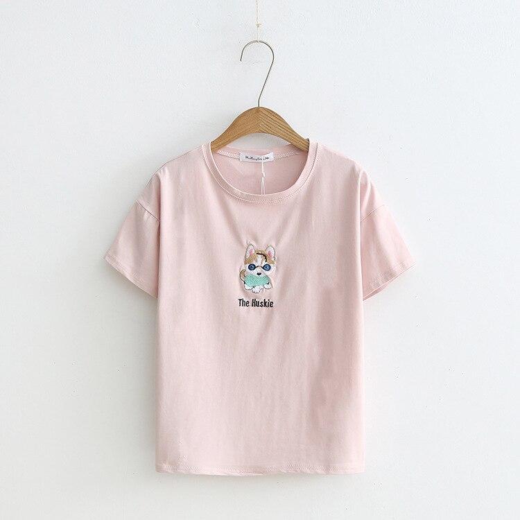 2019 moda de verano camiseta algodón de mujer pantalón corto Casual manga camiseta