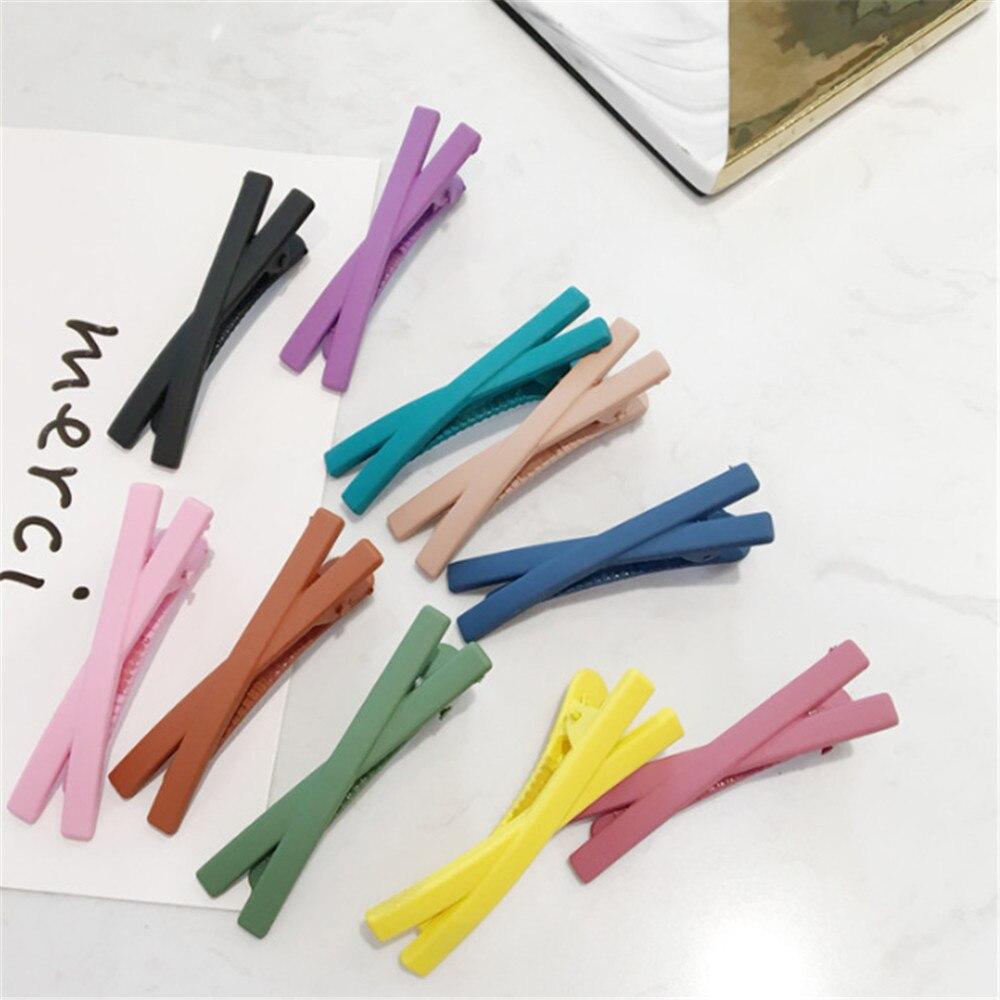 1 pc de Cruz mujeres horquillas para cabello de Color caramelo para accesorios para el cabello niñas horquillas pinzas de sombreros